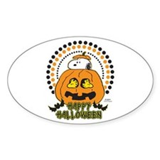 Snoopy and Woodstock Pumpkin Decal