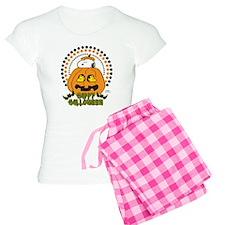 Snoopy and Woodstock Pumpki Women's Light Pajamas