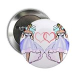 Lesbian Wedding 6 Button