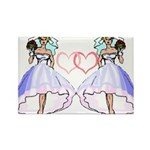 Lesbian Wedding 6 Rectangle Magnet (10 pack)