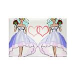 Lesbian Wedding 6 Rectangle Magnet
