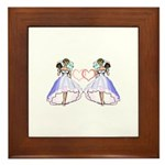 Lesbian Wedding 6 Framed Tile