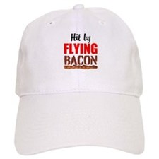 Hit By Flying Bacon Baseball Baseball Cap