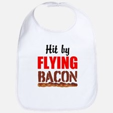 Hit By Flying Bacon Bib