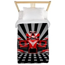 Formula 1 Red Race Car Twin Duvet