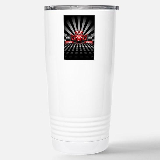 Formula 1 Red Race Car Travel Mug