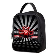 Formula 1 Red Race Car Neoprene Lunch Bag