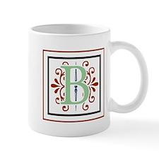 MONOGRAM B GREEN NAVY MAROON Mugs