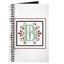 MONOGRAM B GREEN NAVY MAROON Journal