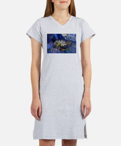 Fish mosaic 001 Women's Nightshirt