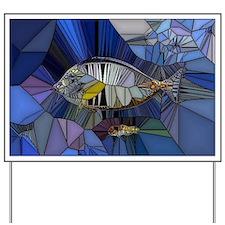 Fish mosaic 001 Yard Sign