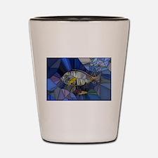 Fish mosaic 001 Shot Glass