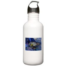 Fish mosaic 001 Sports Water Bottle