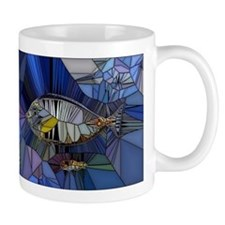 Fish mosaic 001 Mugs