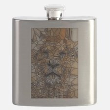 Lion mosaic 001 Flask