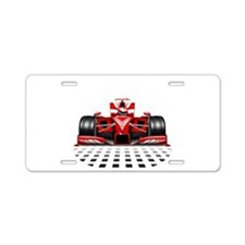 Formula 1 Red Race Car Aluminum License Plate