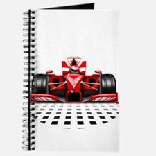 Formula 1 Red Race Car Journal