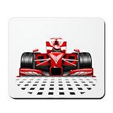 Car racing Mouse Pads