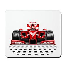 Formula 1 Red Race Car Mousepad