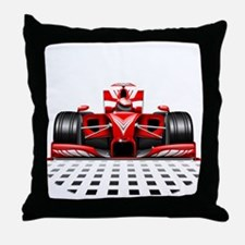 Formula 1 Red Race Car Throw Pillow