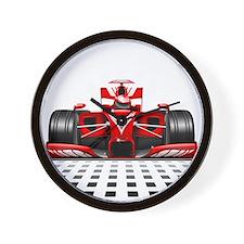 Formula 1 Red Race Car Wall Clock