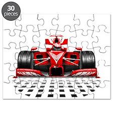 Formula 1 Red Race Car Puzzle