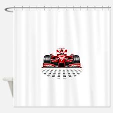 Formula 1 Red Race Car Shower Curtain