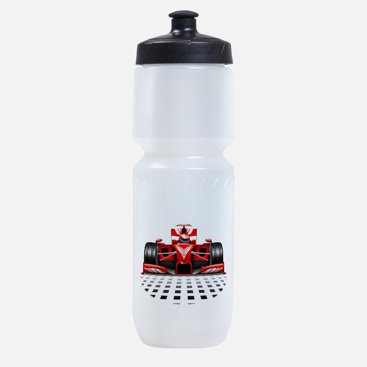 Formula 1 Red Race Car Sports Bottle