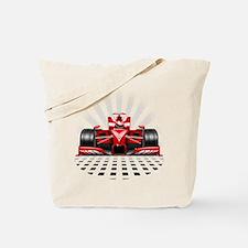 Formula 1 Red Race Car Tote Bag