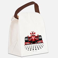 Formula 1 Red Race Car Canvas Lunch Bag