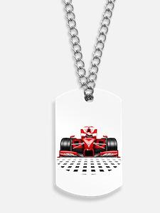 Formula 1 Red Race Car Dog Tags