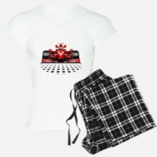Formula 1 Red Race Car Pajamas