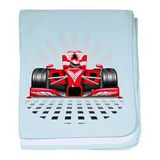 Formula 1 Red Race Car baby blanket