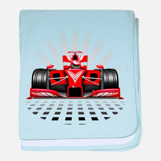 Formula 1 Red Race Car baby blanket