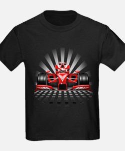 Formula 1 Red Race Car T-Shirt