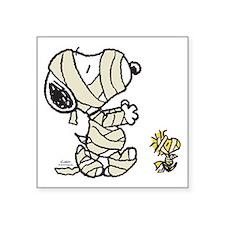 "Mummy Snoopy Square Sticker 3"" x 3"""