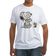 Mummy Snoopy Fitted T-Shirt