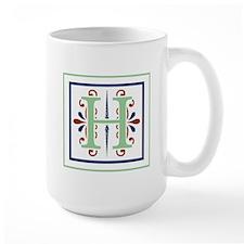 MONOGRAM H GREEN NAVY MAROON Mugs