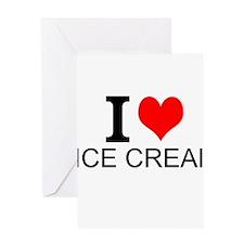 I Love Ice Cream Greeting Cards