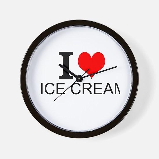 I Love Ice Cream Wall Clock