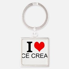 I Love Ice Cream Keychains
