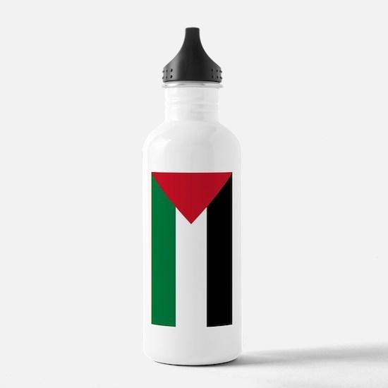 Palestine Flag Water Bottle