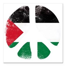 "Peace for Palestine Square Car Magnet 3"" x 3"""