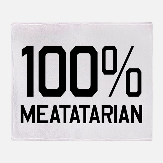 100% Meatatarian Throw Blanket
