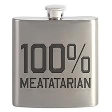 100% Meatatarian Flask