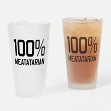 100% Meatatarian Drinking Glass