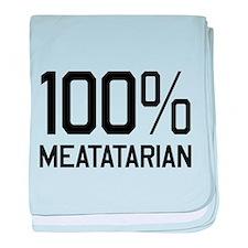100% Meatatarian baby blanket