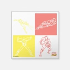 "Iron Man Red & Yellow Square Sticker 3"" x 3"""