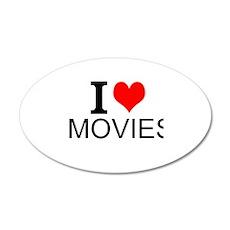 I Love Movies Wall Decal