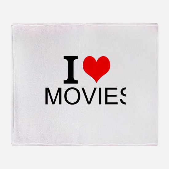 I Love Movies Throw Blanket